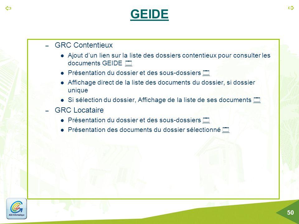GEIDE GRC Contentieux GRC Locataire