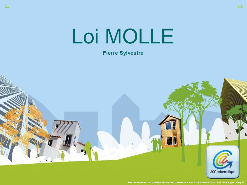 Loi MOLLE Pierre Sylvestre