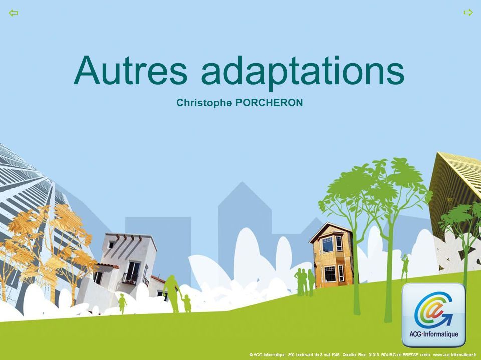 Autres adaptations Christophe PORCHERON