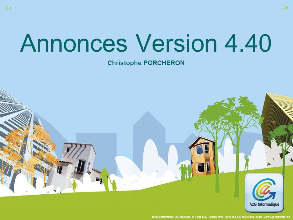 Annonces Version 4.40 Christophe PORCHERON