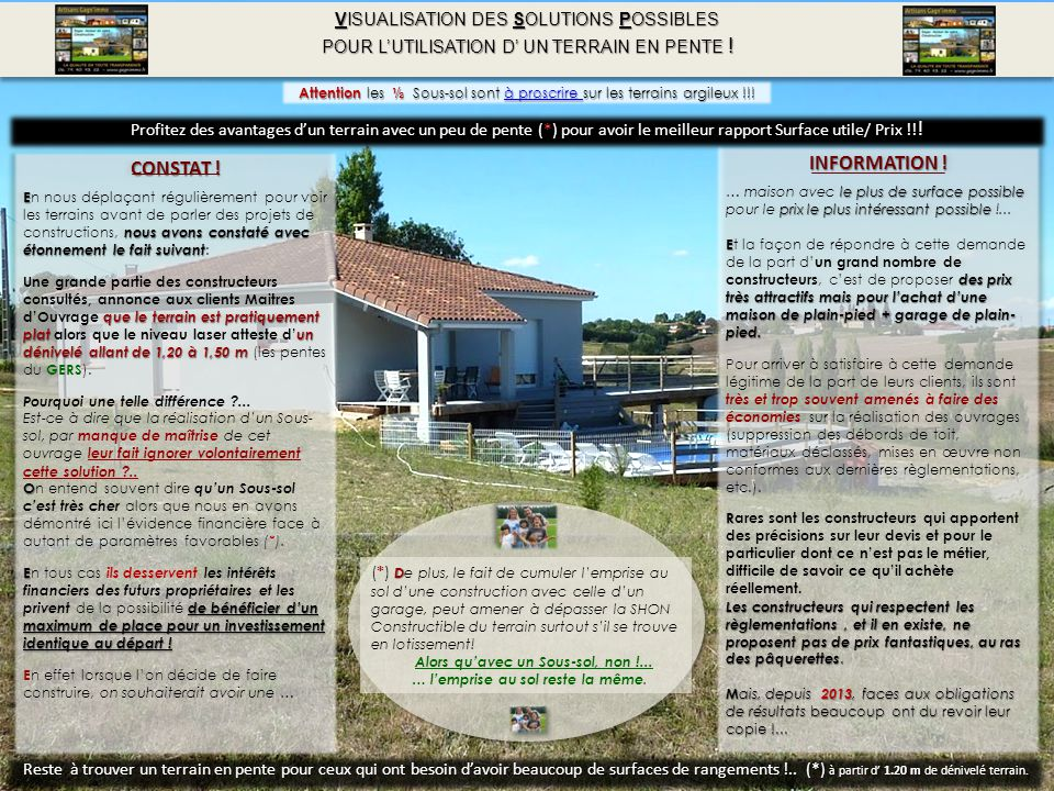 INFORMATION ! CONSTAT ! VISUALISATION DES SOLUTIONS POSSIBLES