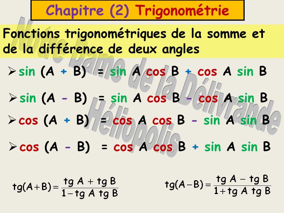 Chapitre (2) Trigonométrie