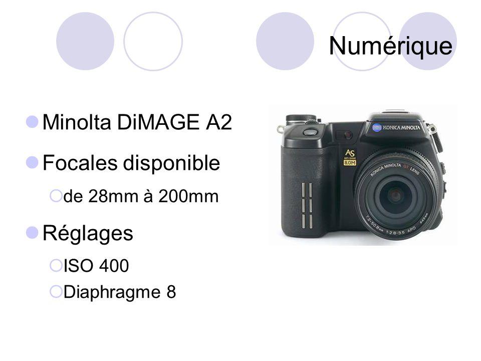 Numérique Minolta DiMAGE A2 Focales disponible Réglages
