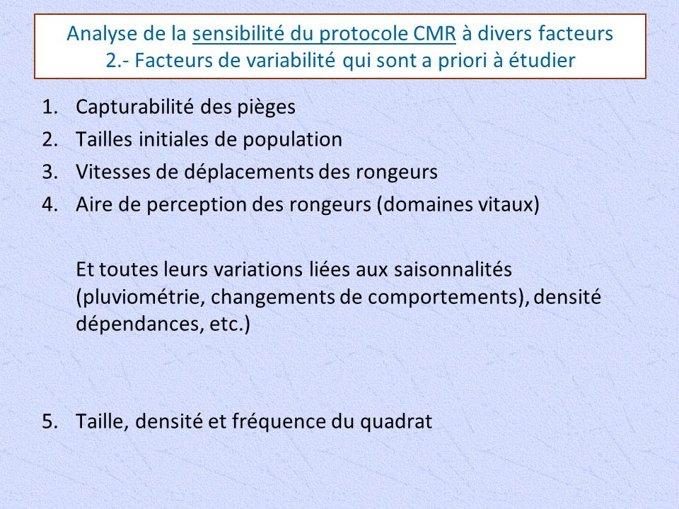 Analyse de la sensibilité du protocole CMR à divers facteurs 2