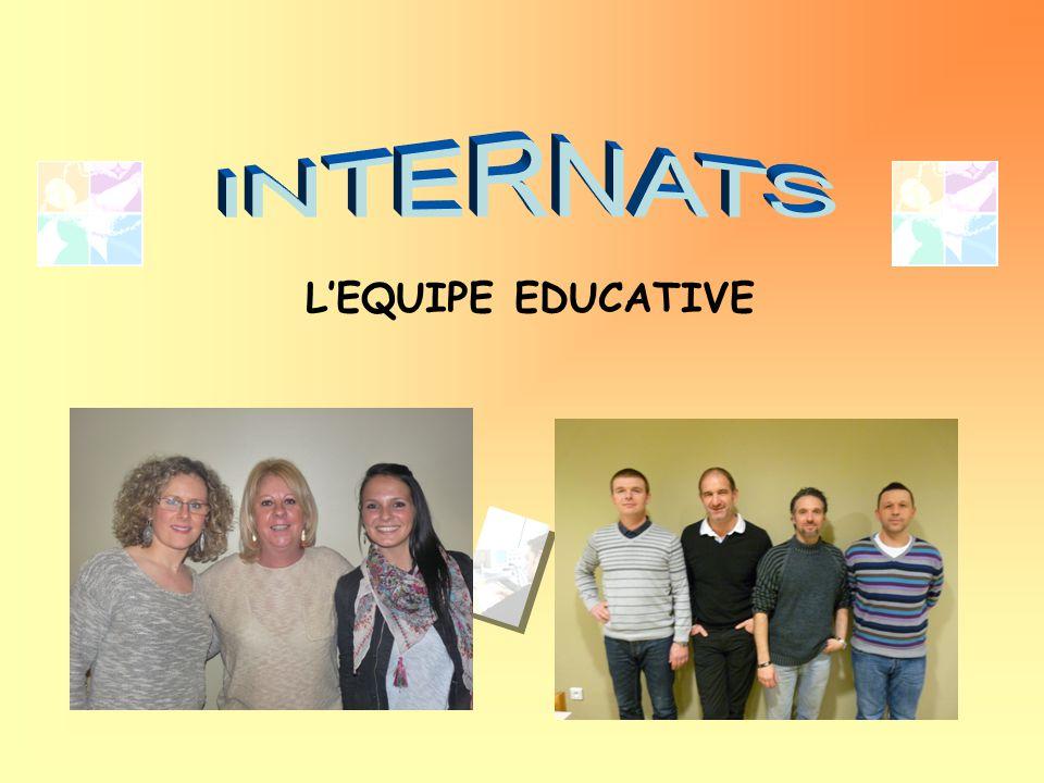 INTERNATS L'EQUIPE EDUCATIVE