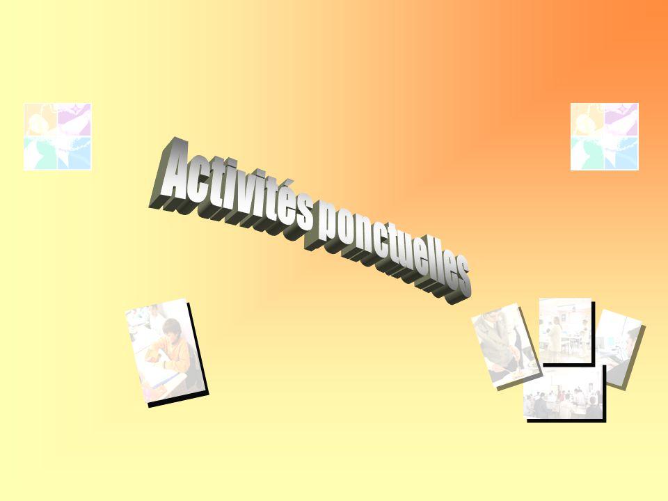 Activités ponctuelles