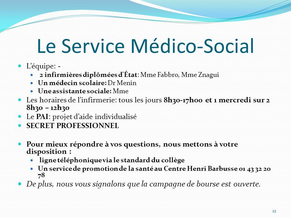 Le Service Médico-Social