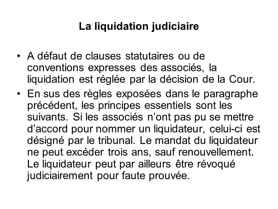 La liquidation judiciaire