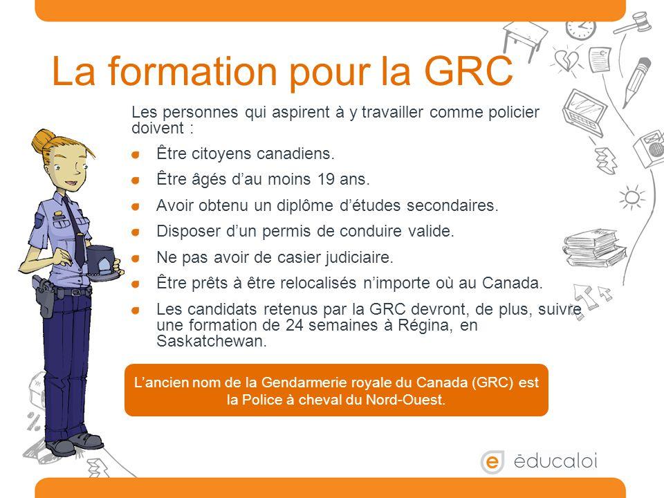 La formation pour la GRC