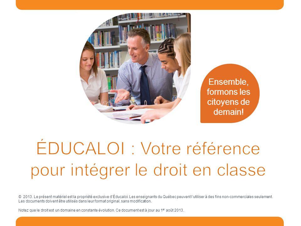 ÉDUCALOI : Votre référence pour intégrer le droit en classe