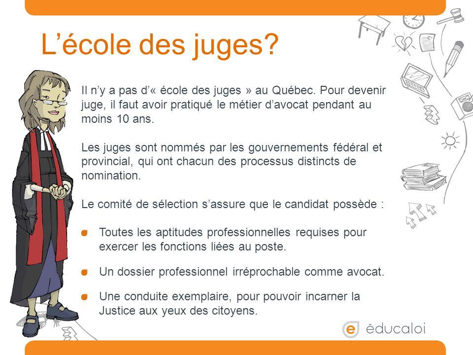 L'école des juges