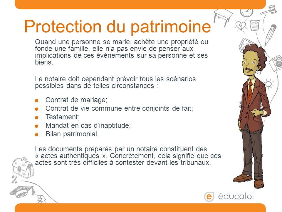 Protection du patrimoine