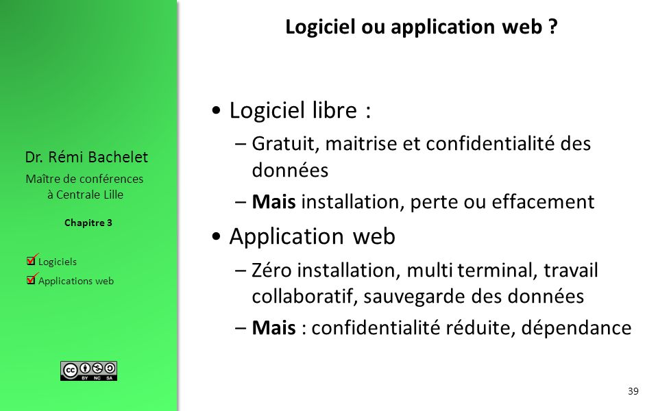 Logiciel ou application web