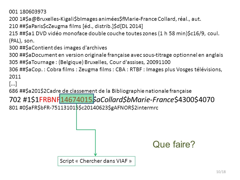 Que faire 702 #1$1FRBNF14674015$aCollard$bMarie-France$4300$4070