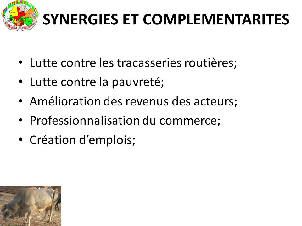 SYNERGIES ET COMPLEMENTARITES
