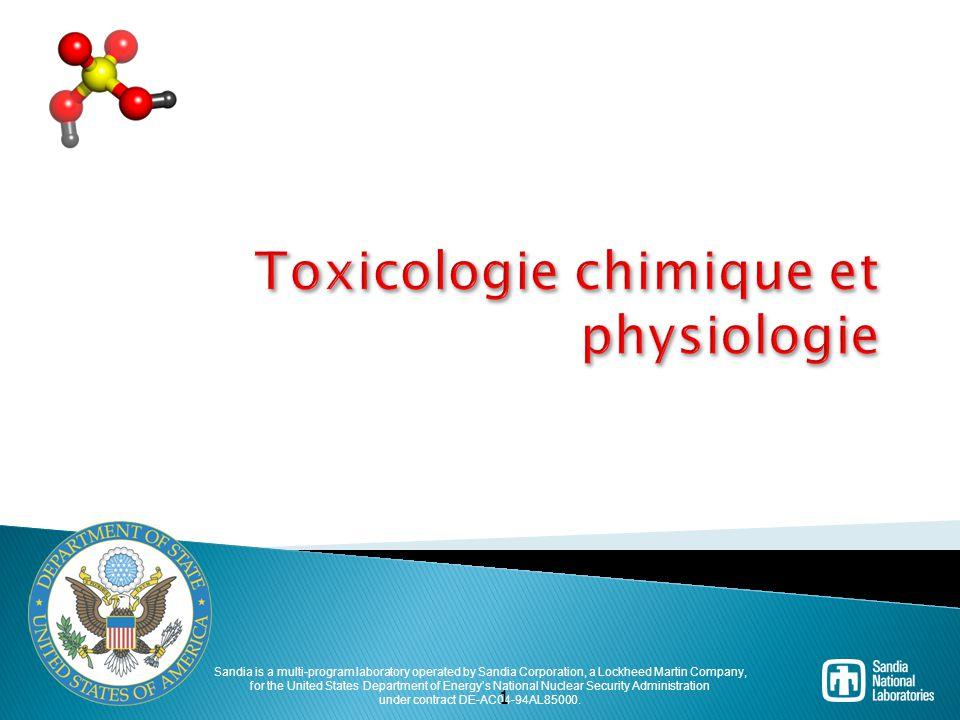 Toxicologie chimique et physiologie