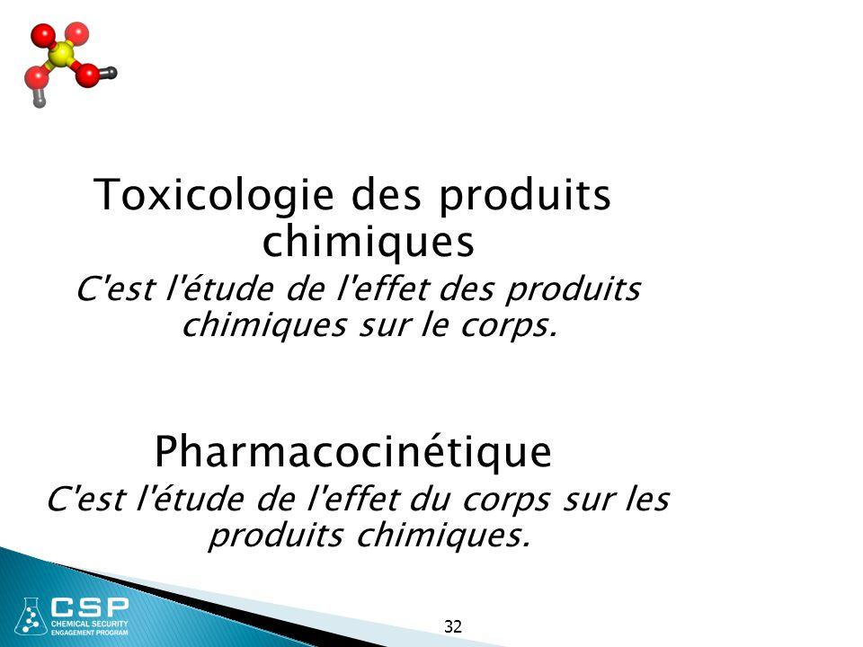Toxicologie des produits chimiques