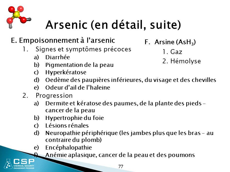 Arsenic (en détail, suite)