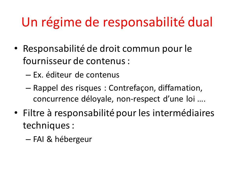 Un régime de responsabilité dual