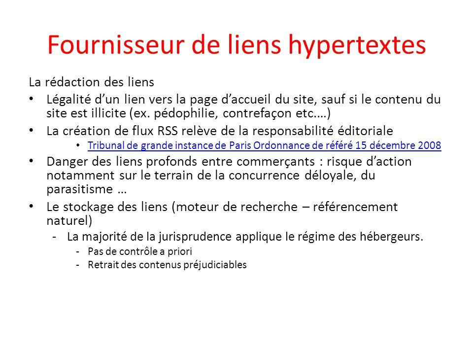 Fournisseur de liens hypertextes