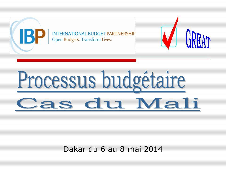 Processus budgétaire Cas du Mali Dakar du 6 au 8 mai 2014