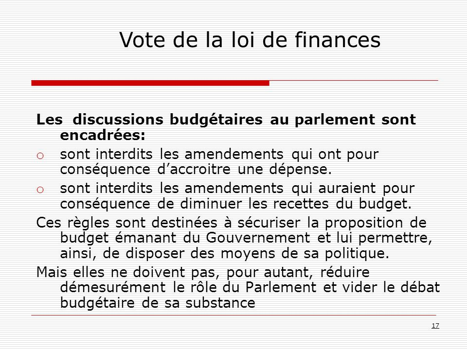 Vote de la loi de finances