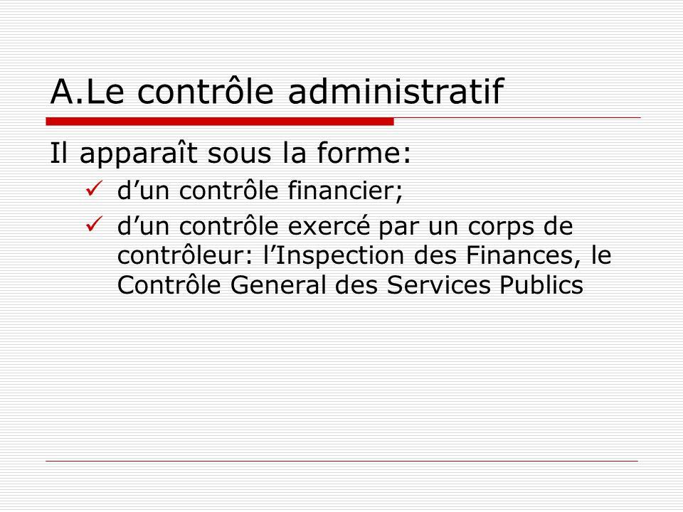 A.Le contrôle administratif