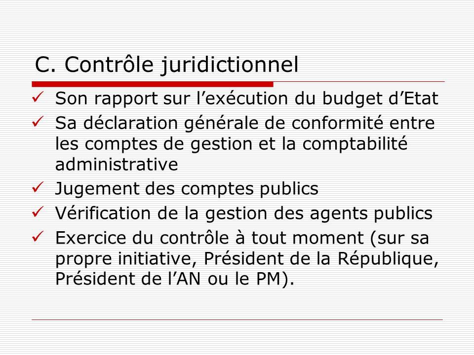 C. Contrôle juridictionnel