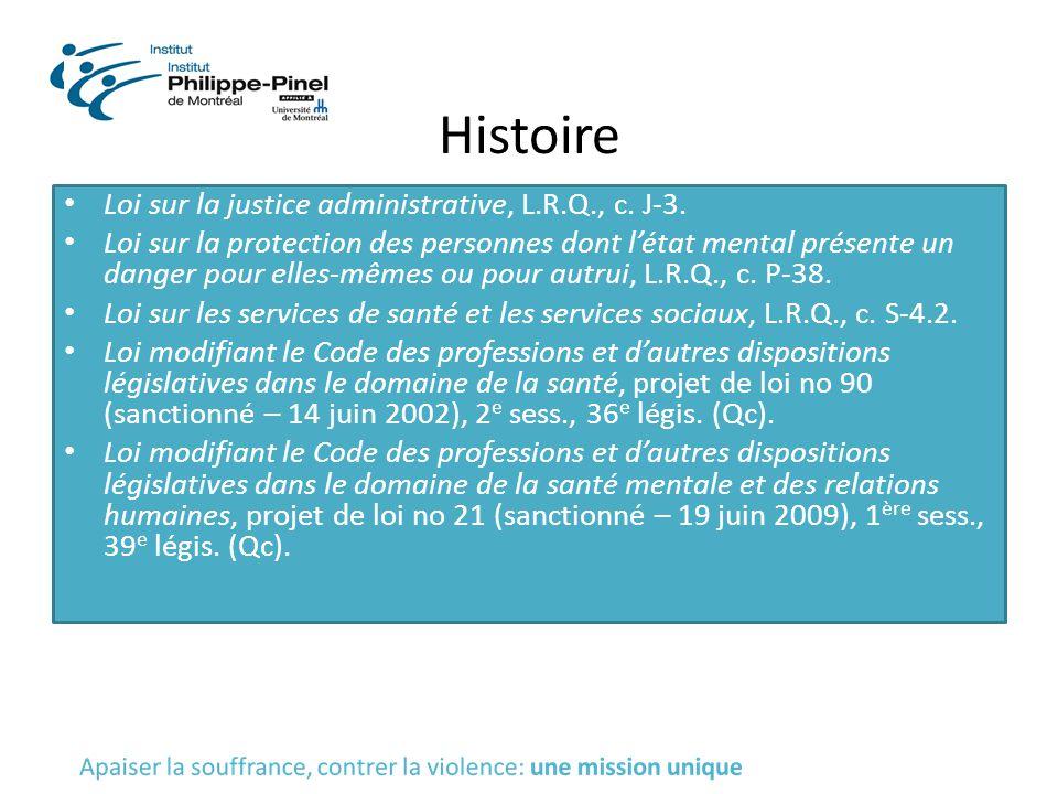 Histoire Loi sur la justice administrative, L.R.Q., c. J-3.
