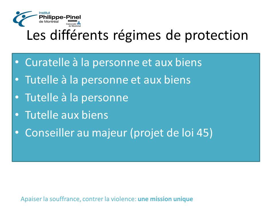 Les différents régimes de protection
