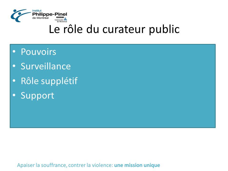 Le rôle du curateur public
