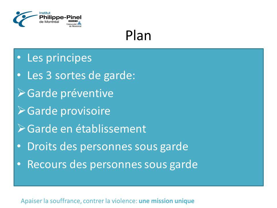 Plan Les principes Les 3 sortes de garde: Garde préventive