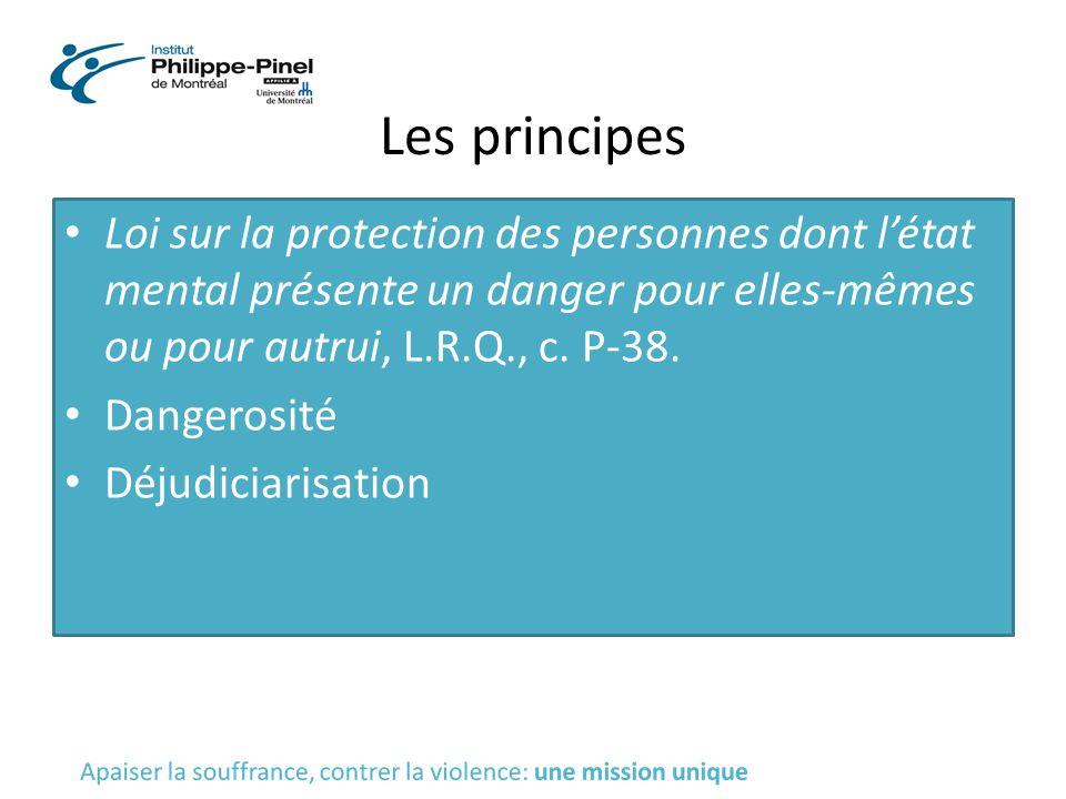 Les principes Loi sur la protection des personnes dont l'état mental présente un danger pour elles-mêmes ou pour autrui, L.R.Q., c. P-38.