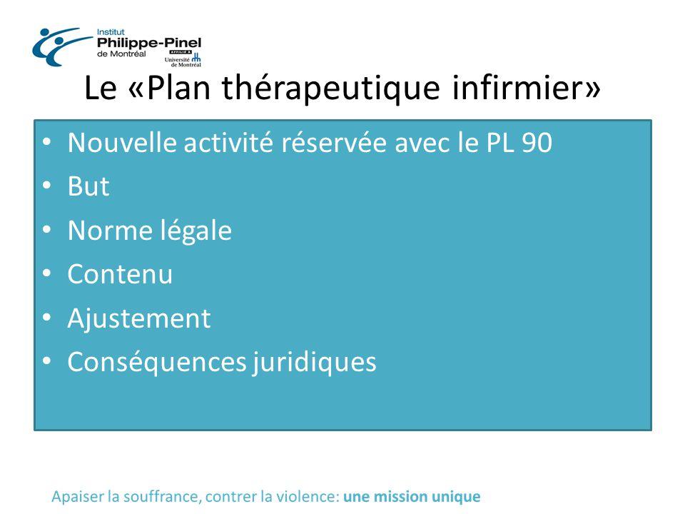 Le «Plan thérapeutique infirmier»