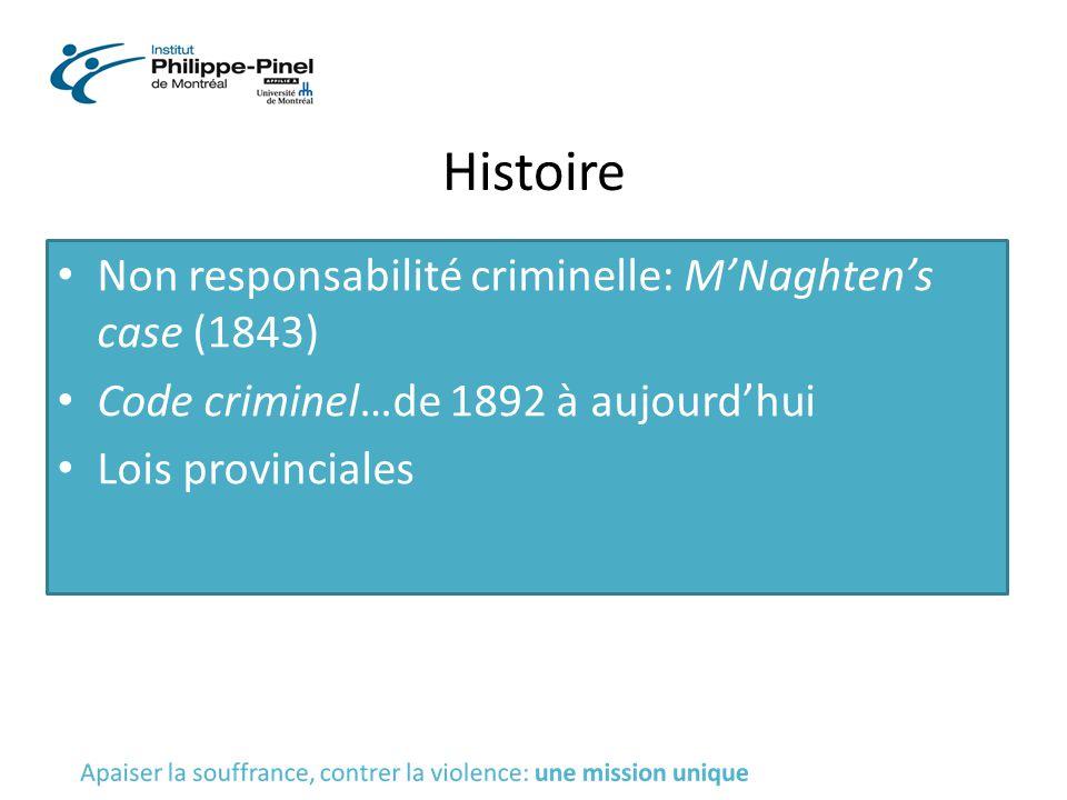 Histoire Non responsabilité criminelle: M'Naghten's case (1843)