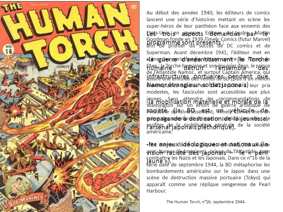 The Human Torch, n°16, septembre 1944.