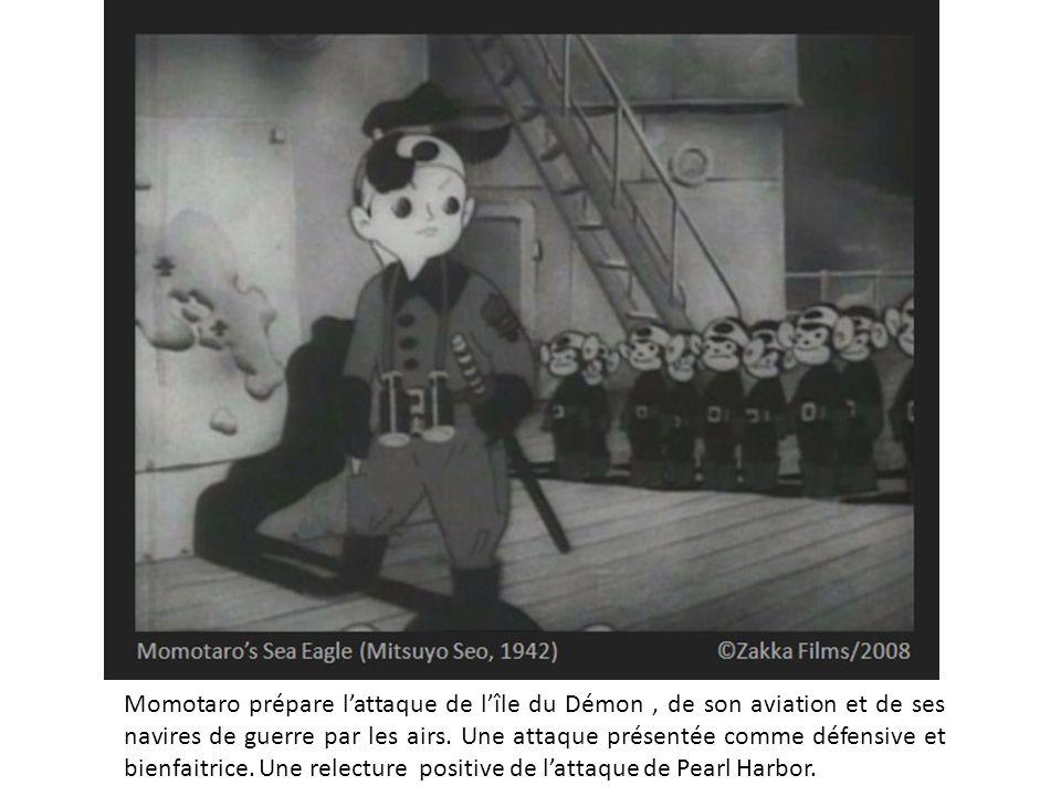 Momotaro prépare l'attaque de l'île du Démon , de son aviation et de ses navires de guerre par les airs.