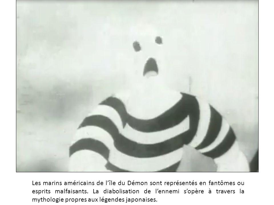 Les marins américains de l'île du Démon sont représentés en fantômes ou esprits malfaisants.