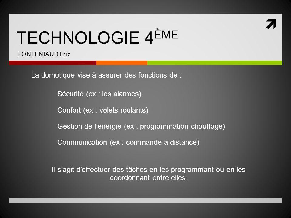 TECHNOLOGIE 4ÈME FONTENIAUD Eric