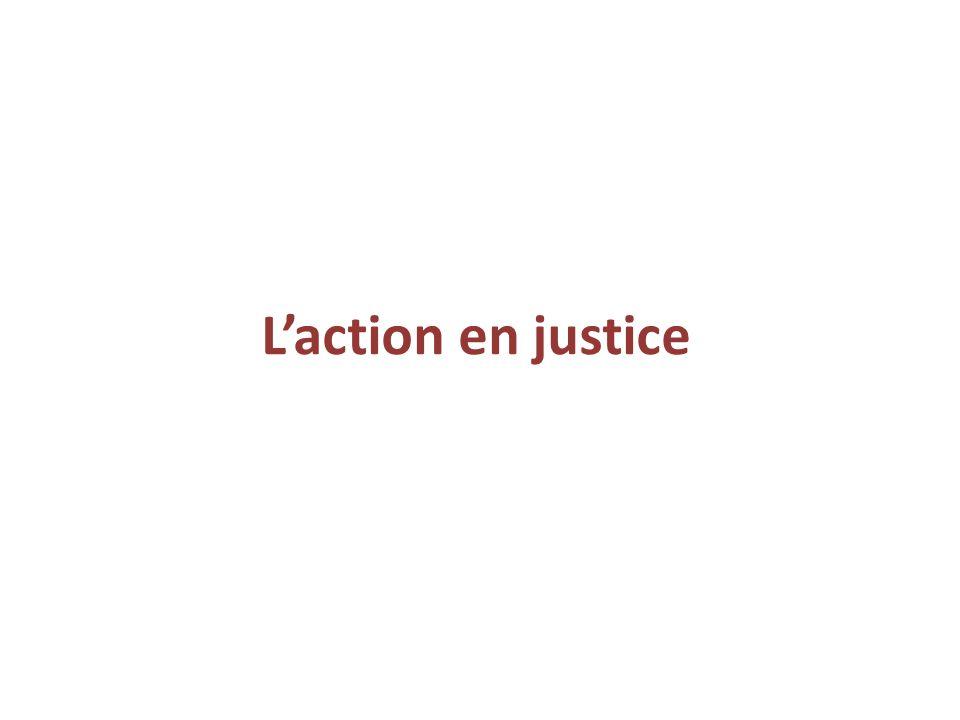 L'action en justice