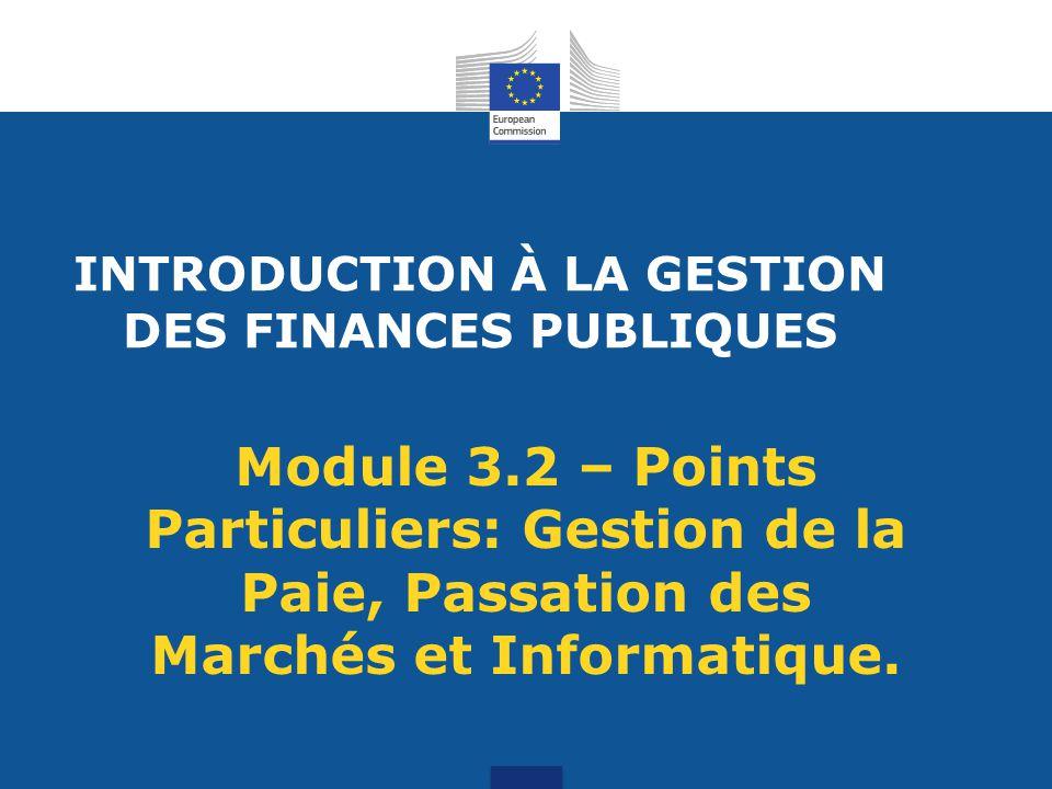 INTRODUCTION À LA GESTION DES FINANCES PUBLIQUES