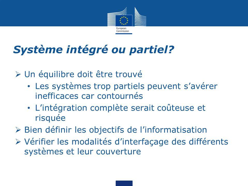 Système intégré ou partiel