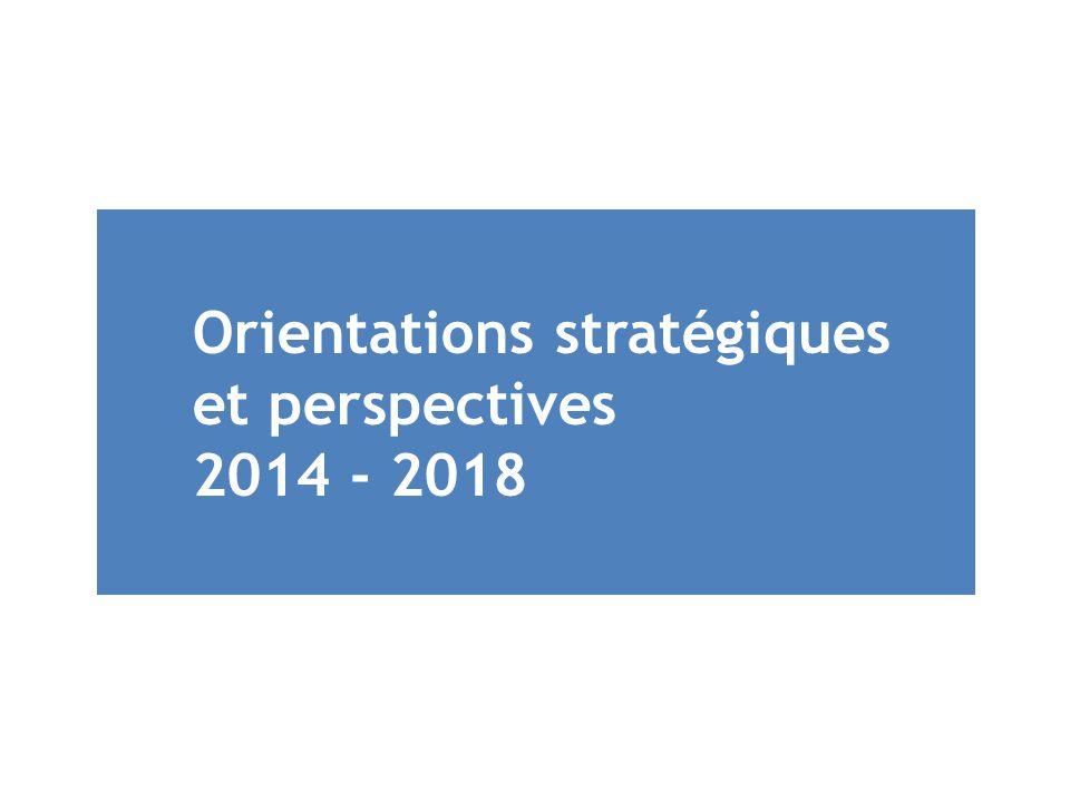 Orientations stratégiques et perspectives 2014 - 2018