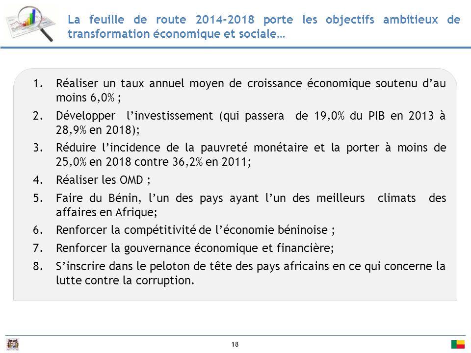 La feuille de route 2014-2018 porte les objectifs ambitieux de transformation économique et sociale…