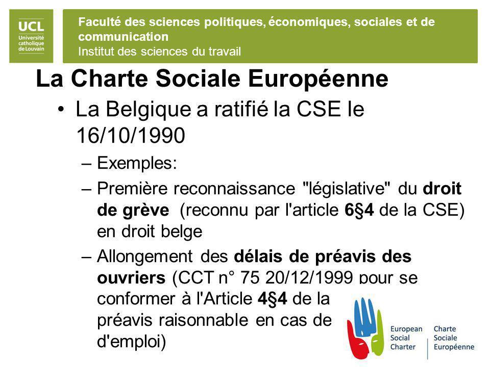 La Charte Sociale Européenne