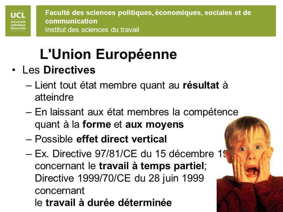 L Union Européenne Les Directives