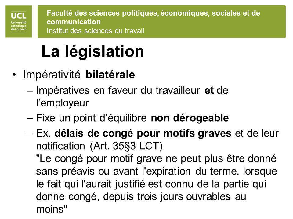 La législation Impérativité bilatérale