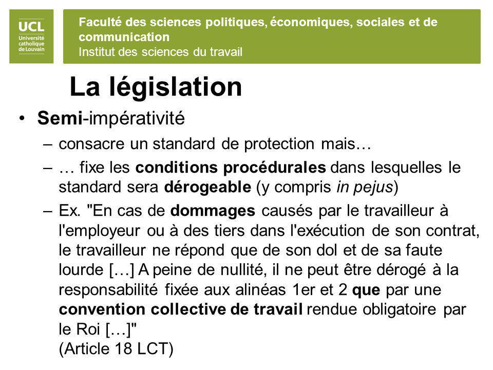 La législation Semi-impérativité