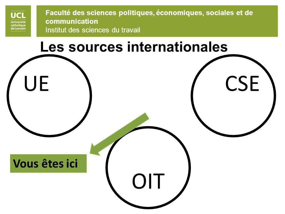 Les sources internationales