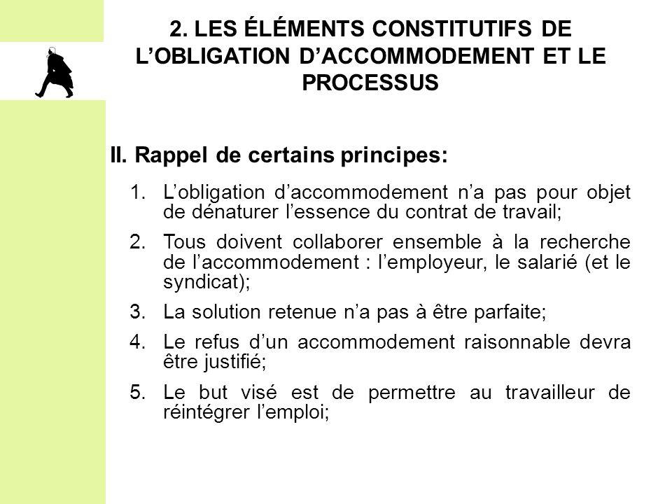 II. Rappel de certains principes: